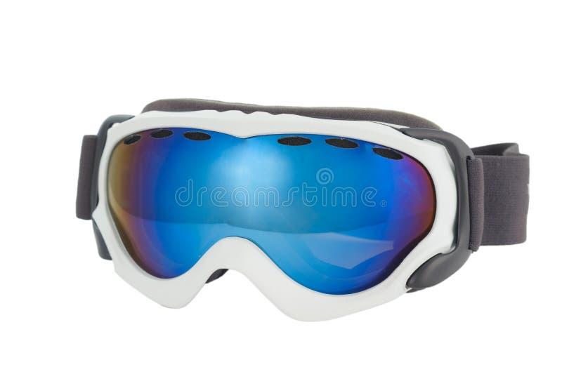 Ski glasses. On white background royalty free stock images