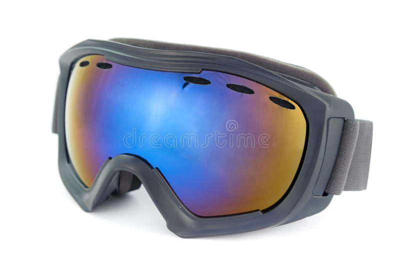 Ski glasses. Isolated on the white royalty free stock image