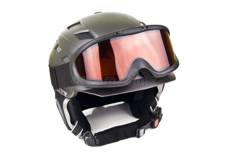 Ski helmet royalty free stock images