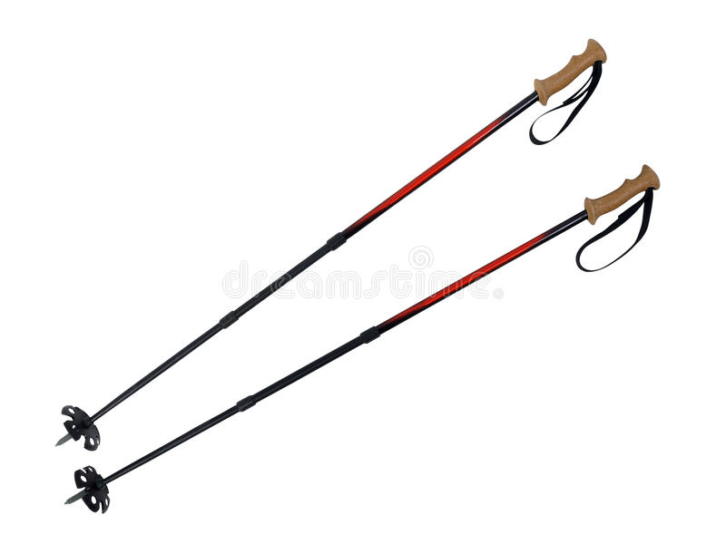Download Ski and Hiking Poles stock image. Image of object, worn - 12659993