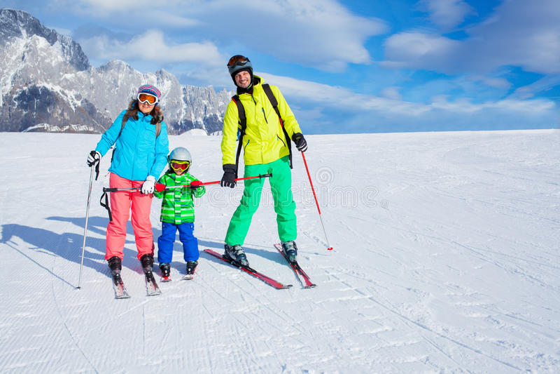 Ski, hiver, neige, skieurs image stock