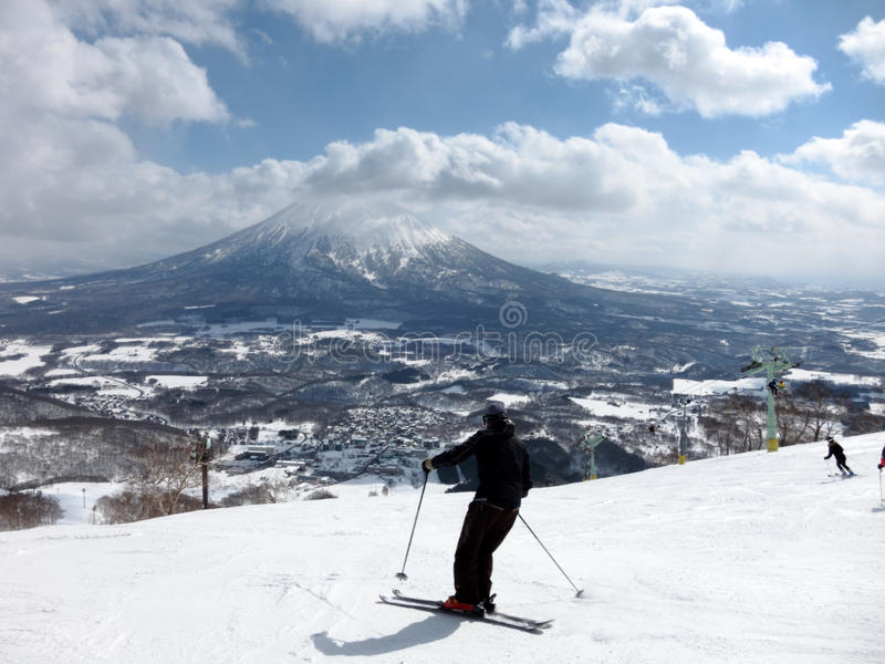 Ski in Hokkaido, Japan royalty free stock images