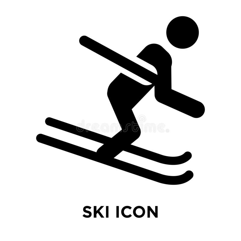 Ski icon vector isolated on white background, logo concept of Sk vector illustration