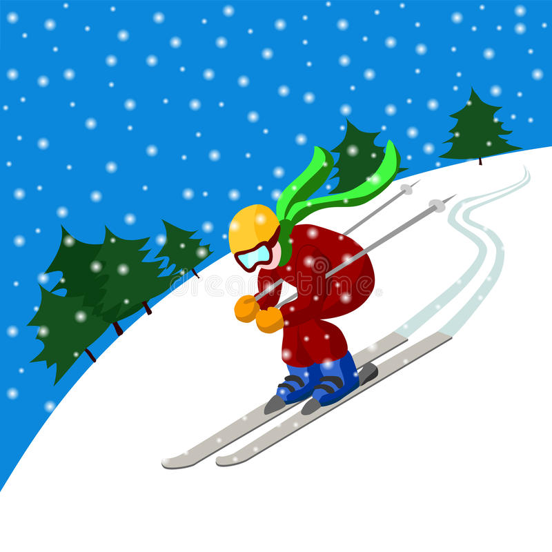 Ski vector illustration
