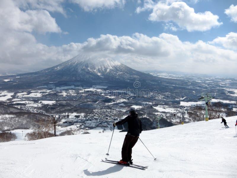 Ski im Hokkaido, Japan lizenzfreie stockbilder