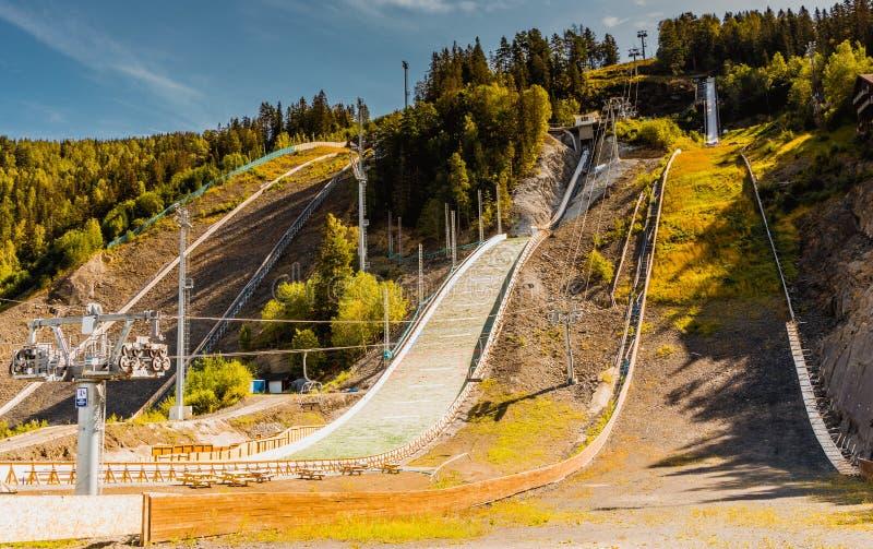 Ski jump in Vikersund, Norway, Scandinavia royalty free stock image