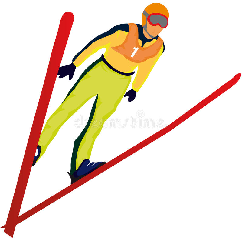 Ski jumper vector illustration