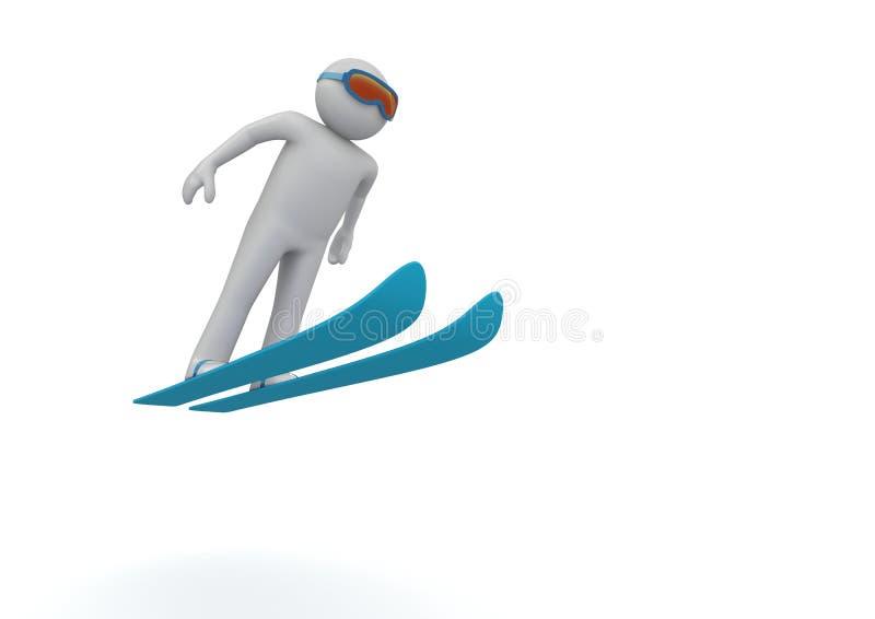Download Ski jumping stock illustration. Image of jump, snow, skisuit - 12976859