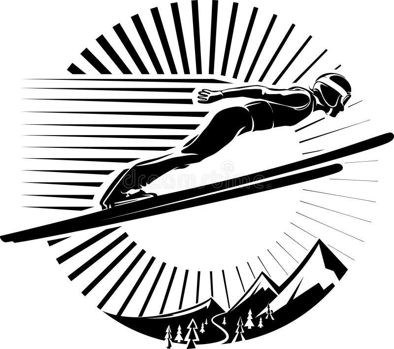 Ski Jumping stock illustratie