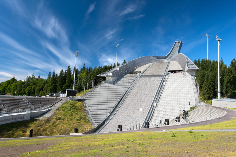 Ski Jumping Arena In Oslo Norway Stock Photos