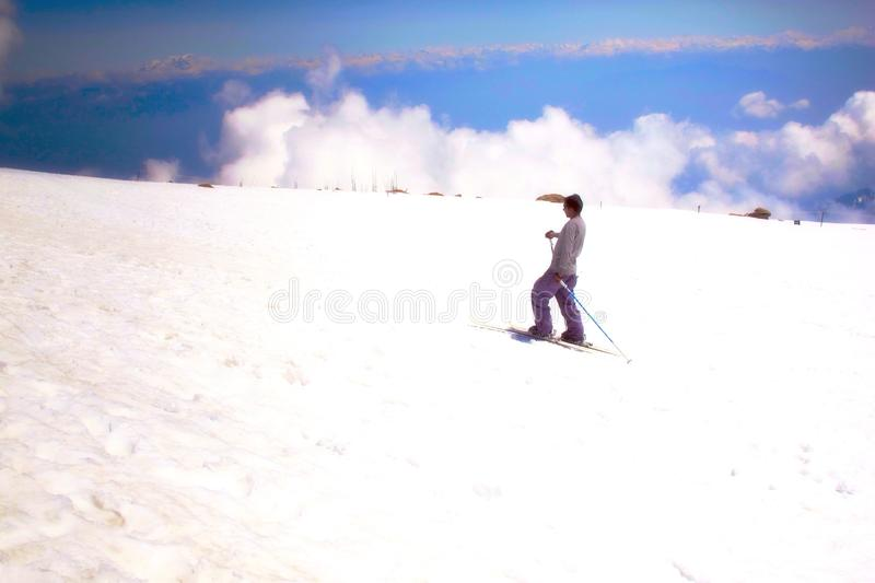 Ski in Kashmir India stock fotografie