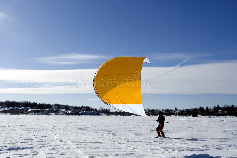 Ski kiting photographie stock libre de droits