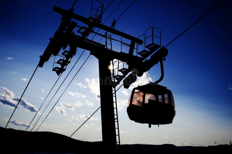 A Ski Lift Royalty Free Stock Images
