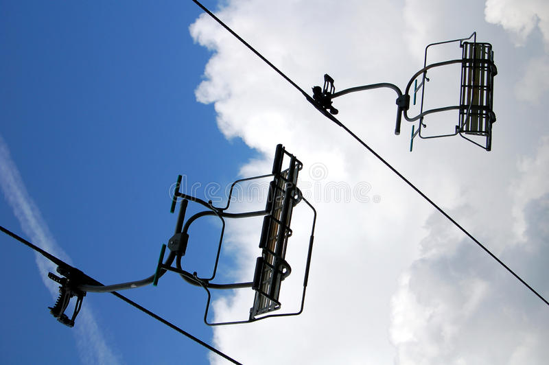 Download Ski lift stock photo. Image of background, blue, seating - 17590242
