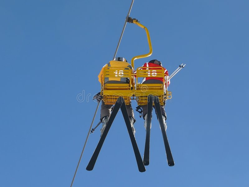 Ski Lift royalty free stock image