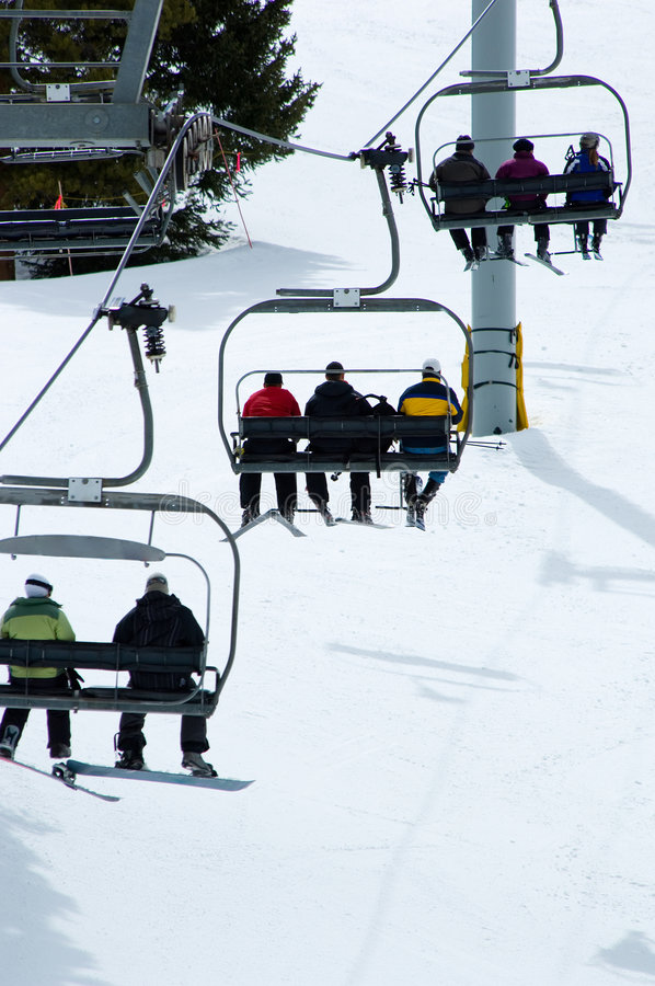 Download Ski Lift stock image. Image of chair, space, activity - 5156343