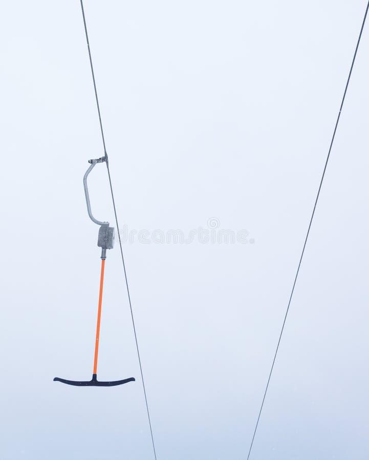 Ski lift against background sky royalty free stock photos