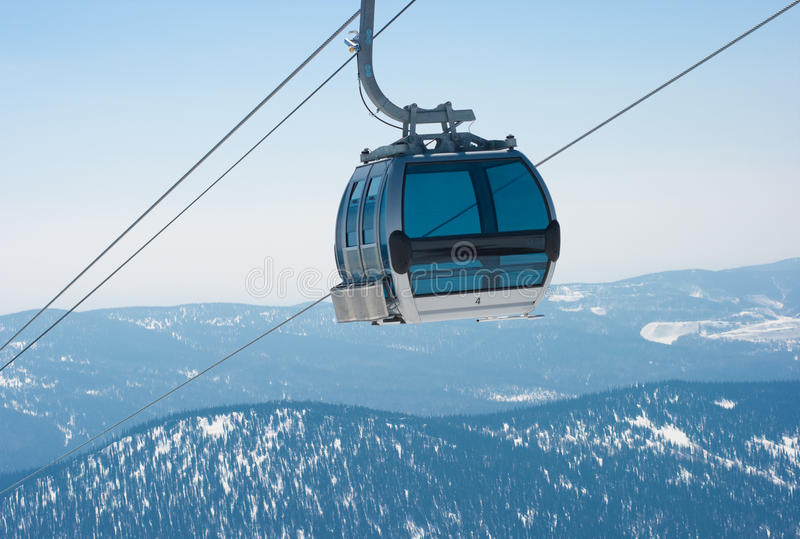 Download Ski Lift Cable Booth Or Car Stock Image - Image: 16185597