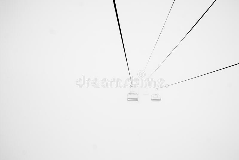 Ski Lift Cable Cars On A Foggy Day Free Public Domain Cc0 Image