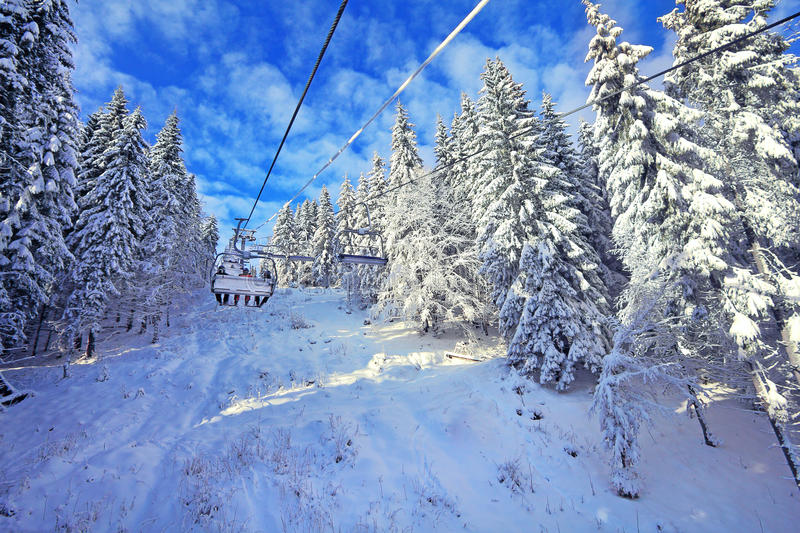 Download Ski Lift Chairs Royalty Free Stock Photography - Image: 22820357