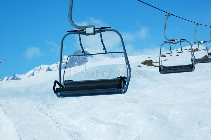 Ski Lift Chairs Royalty Free Stock Photos