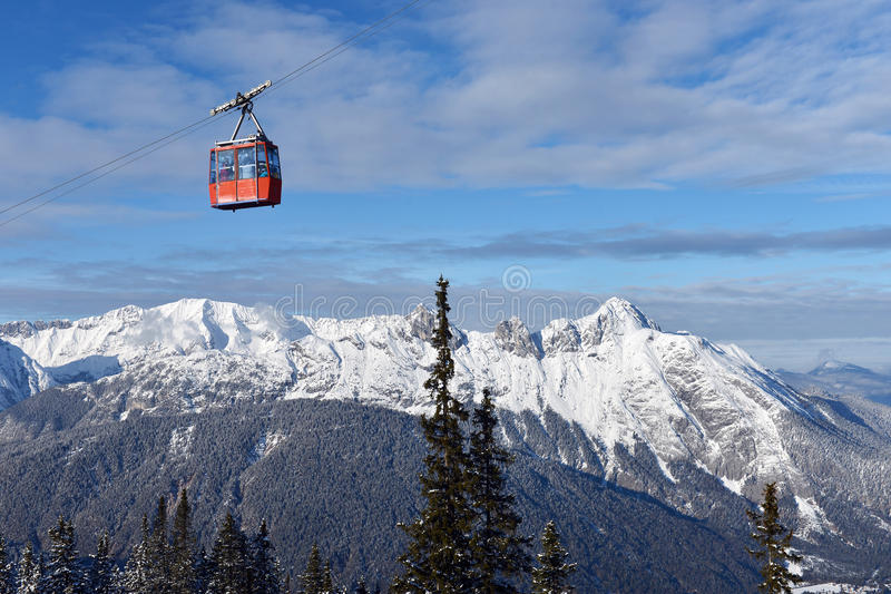 Download Ski lift chairs stock image. Image of lift, snowy, blue - 35593111