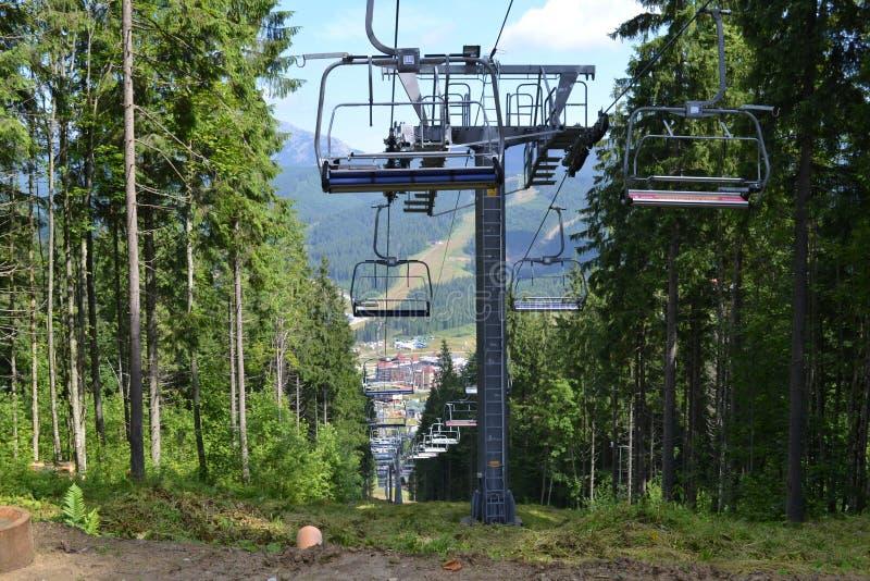 Ski Lift di estate immagine stock libera da diritti
