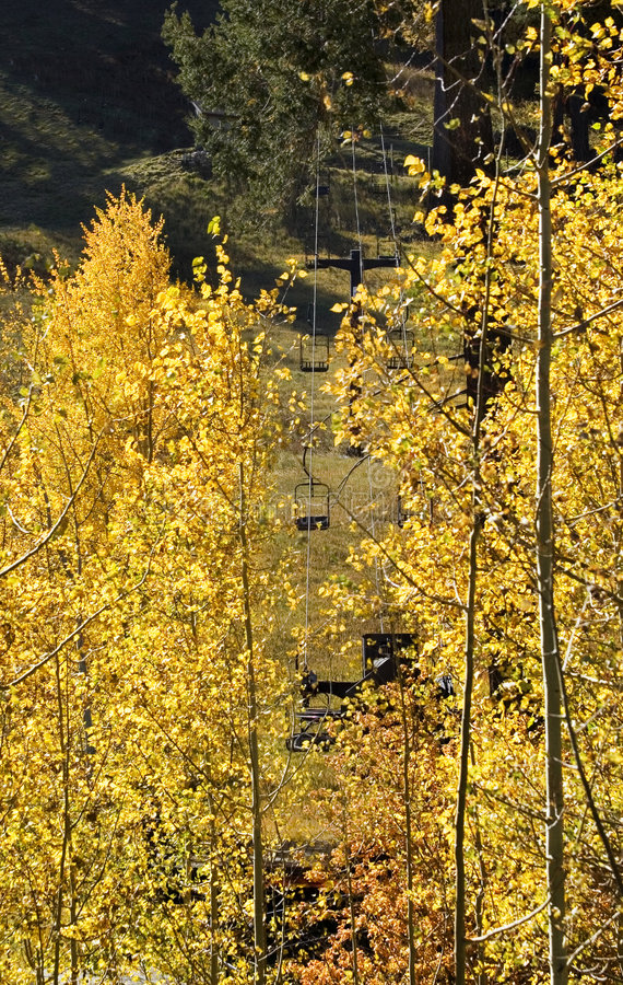 Download Ski Lift In The Fall Royalty Free Stock Image - Image: 7382396