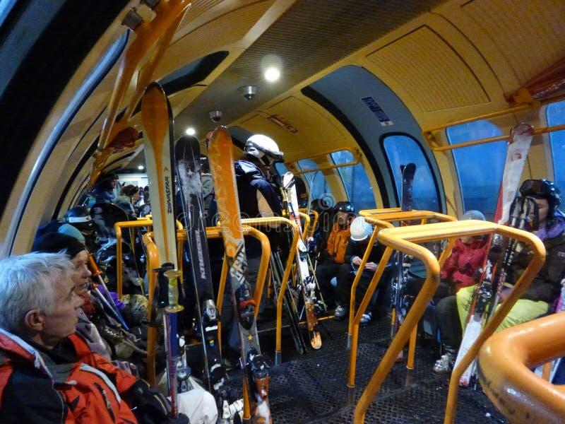 Ski Lift funiculaire photos libres de droits