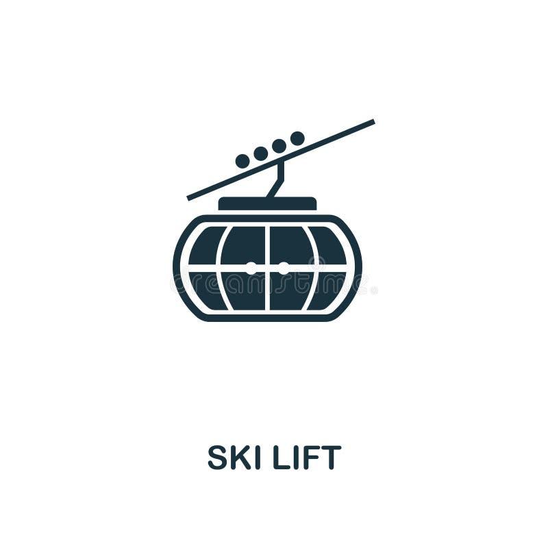 Ski Lift Icon Högvärdig stildesign från samling för symbol för vintersportar UI och UX Perfekt Ski Lift för PIXEL symbol för reng vektor illustrationer
