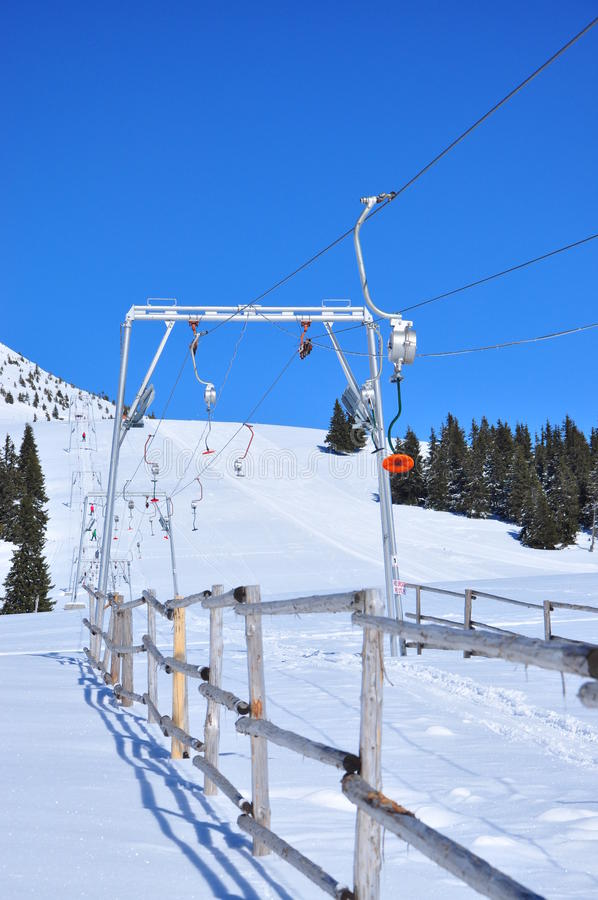 Download Ski lift installation stock image. Image of mountain - 18798955