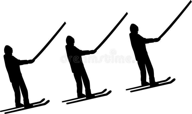 Ski Lift Men illustration libre de droits