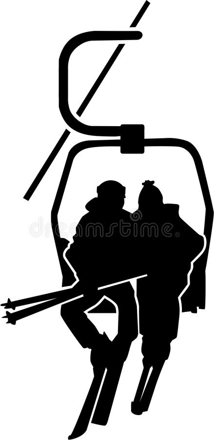 Ski Lift People illustration libre de droits