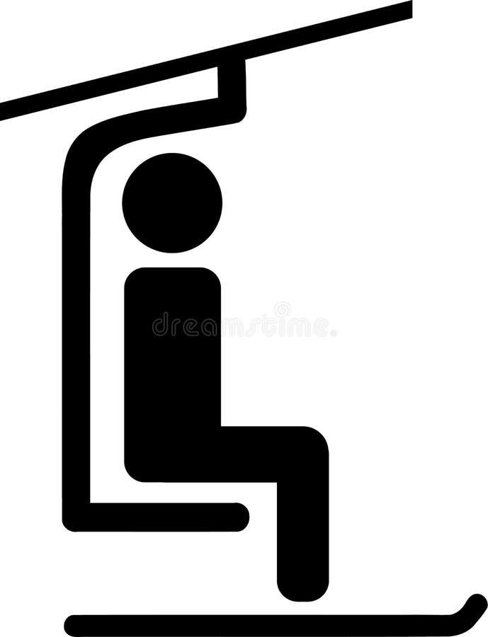 Ski Lift Pictogram royaltyfri illustrationer