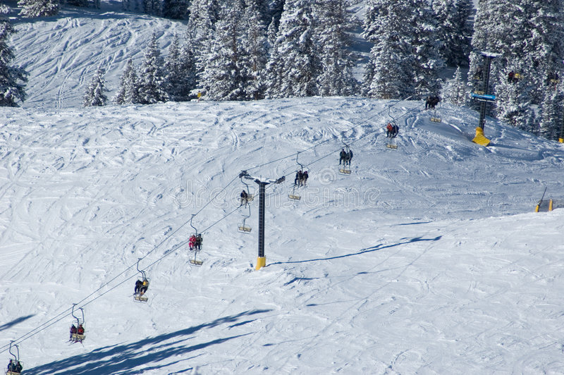 Download Ski lift at the resort stock photo. Image of forest, lift - 467470