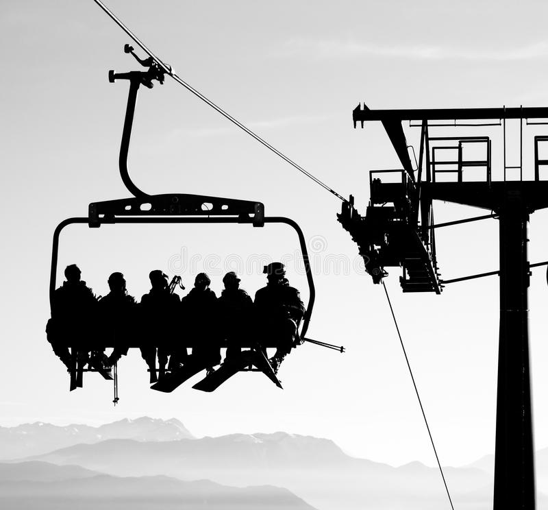 Download Ski lift stock photo. Image of chair, downhill, fresh - 68115158