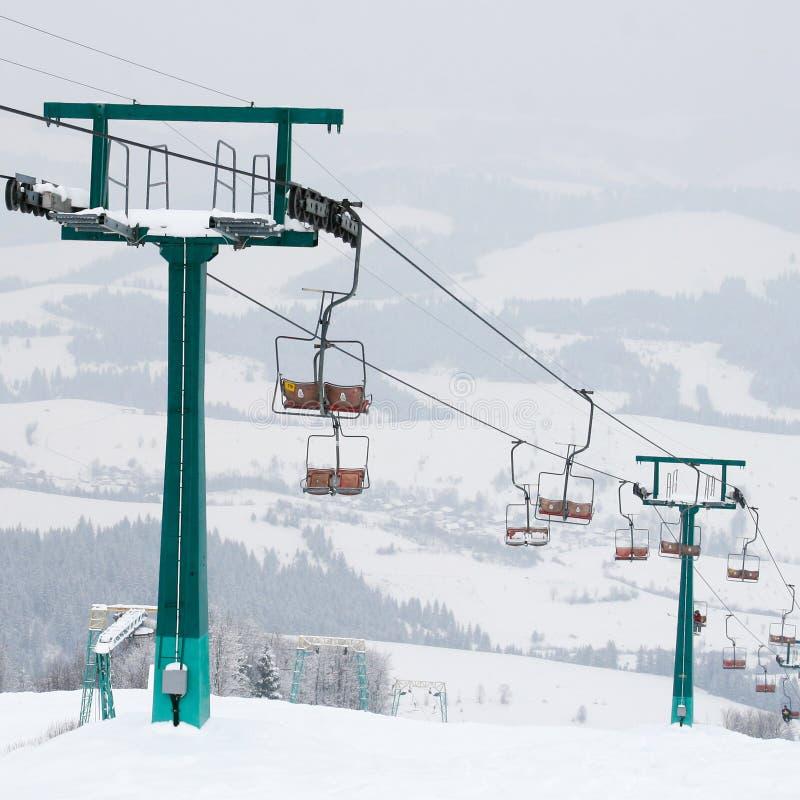 Download Ski Lift And Skiing Slope Stock Photo - Image: 22337510