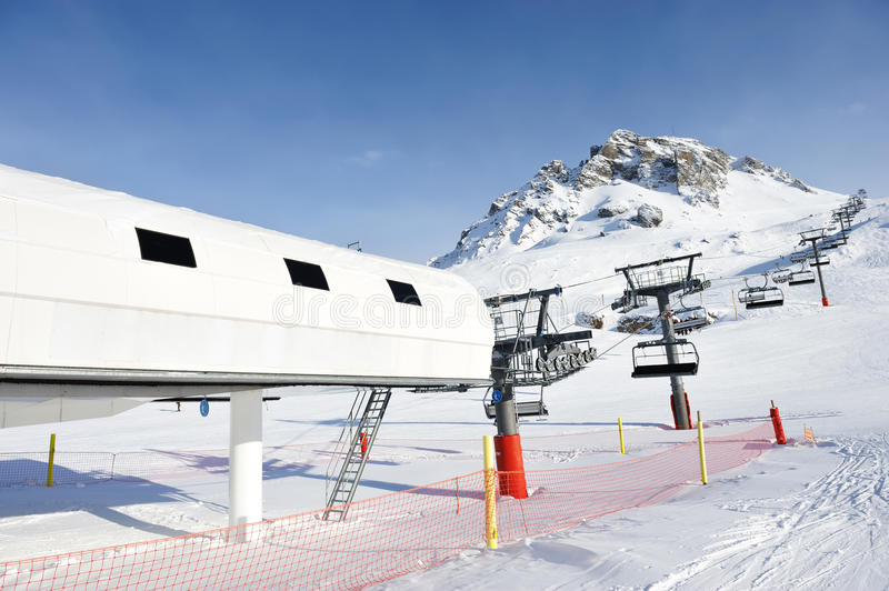 Download Ski lift station stock image. Image of slope, lift, cable - 24929315