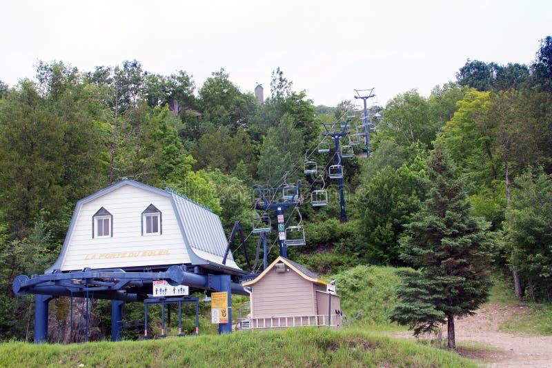 Ski Lift in Summer stock image
