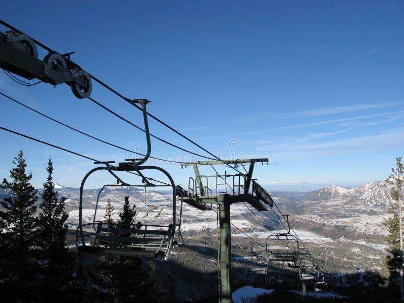 Ski Lift in Telluride, Colorado. Ski lift in the mountain resort of Telluride, Colorado royalty free stock photo