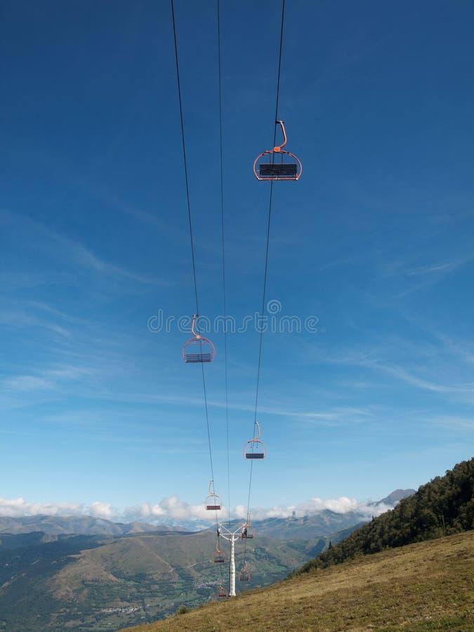 Ski lifts stock image