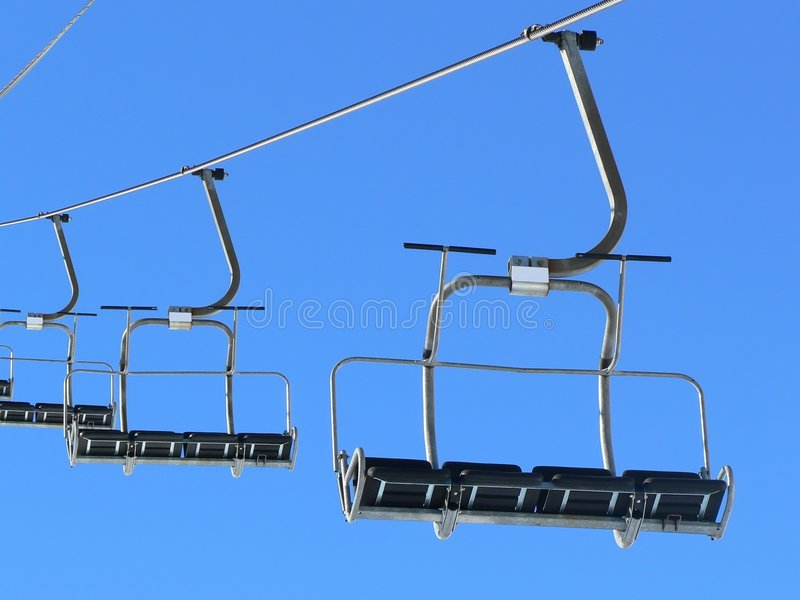 Ski lifts stock photography