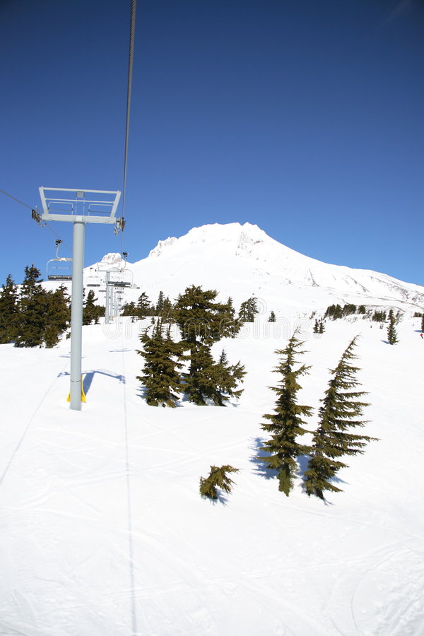 Ski lifts royalty free stock images