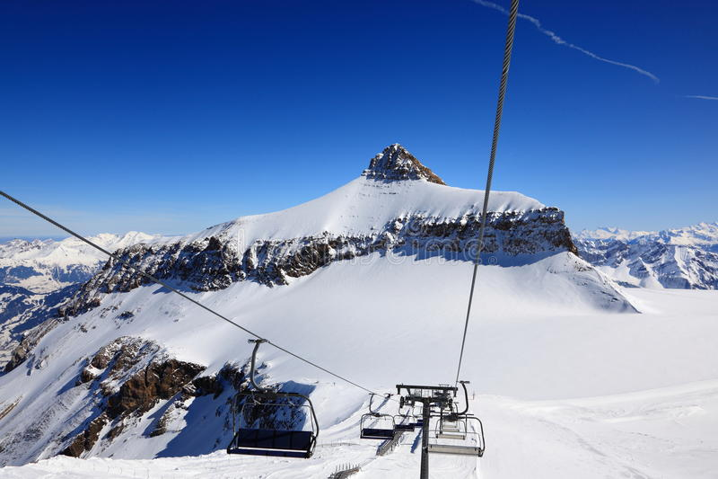 Download Ski Lifts in the Alps stock photo. Image of alpine, recreation - 13561656