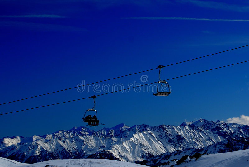 Download Ski Lifts In Alps Mountains Stock Image - Image: 8115023
