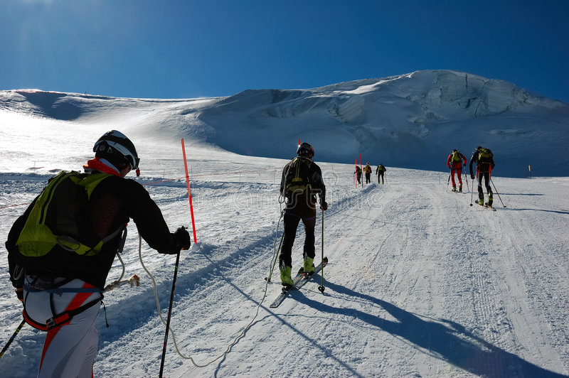 Ski-mountaineering competition royalty free stock image