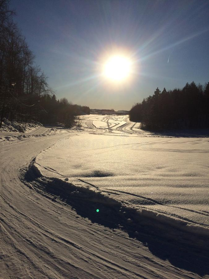 Ski in Norwegen stockfotografie