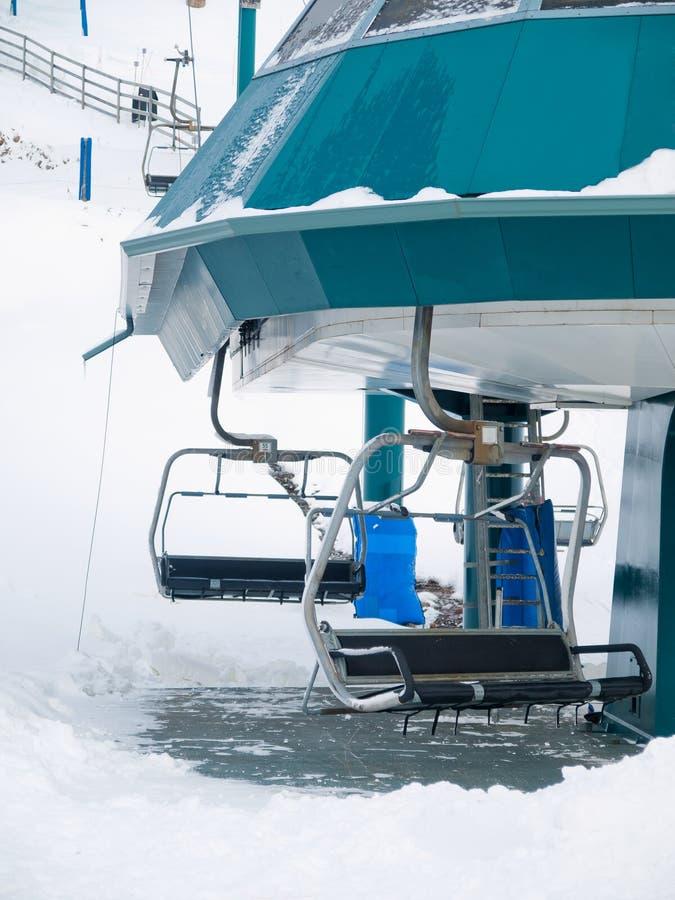 Ski open telesiege royalty free stock photography