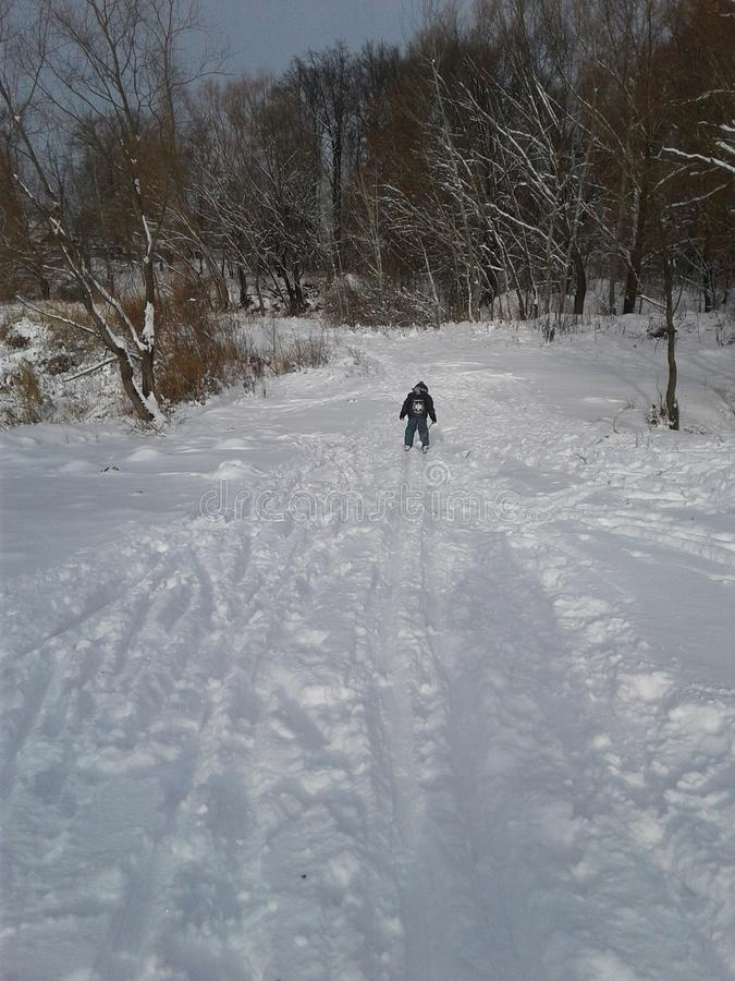 Ski opleiding stock foto's