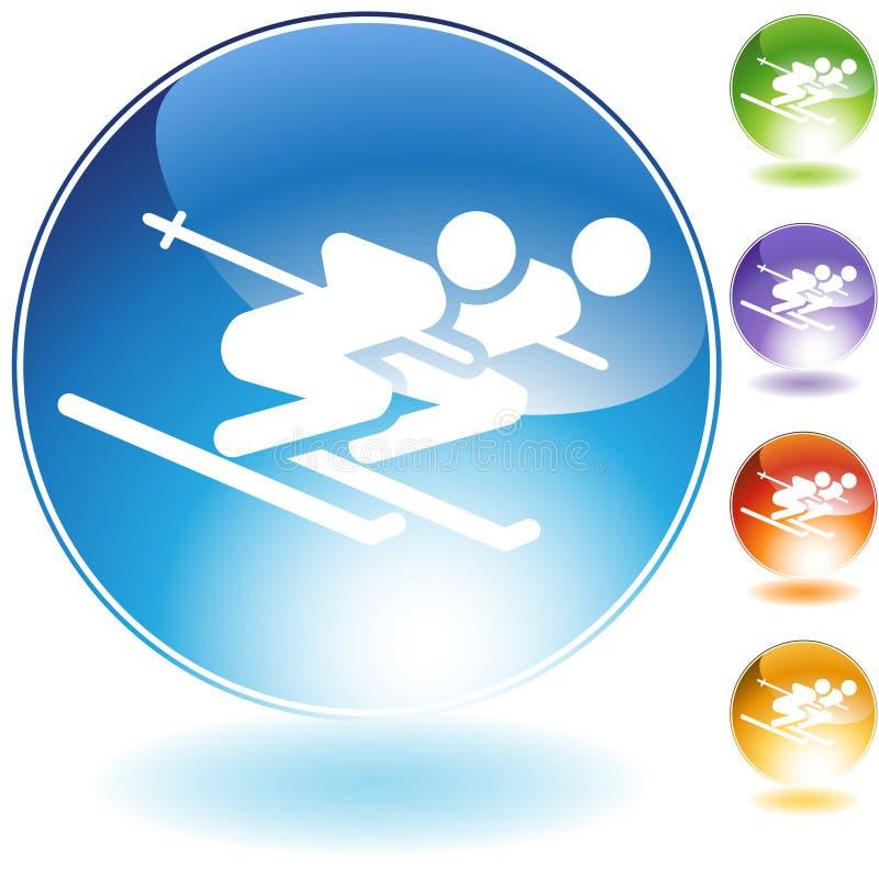 Ski Pair vector illustration